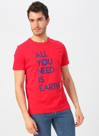 National Geographic Tişört Kırmızı